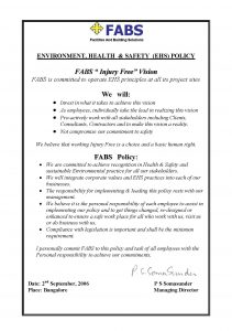 FABS Company EHS Policy
